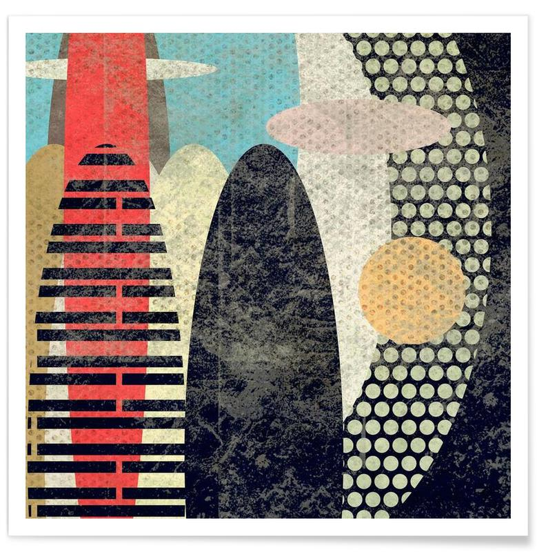 Surf, Abstraction affiche