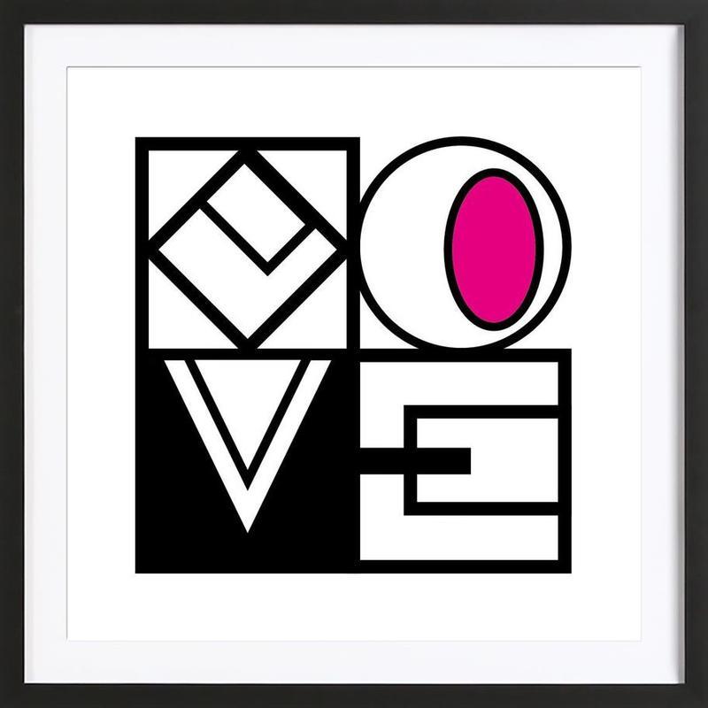 LOVE -Bild mit Holzrahmen