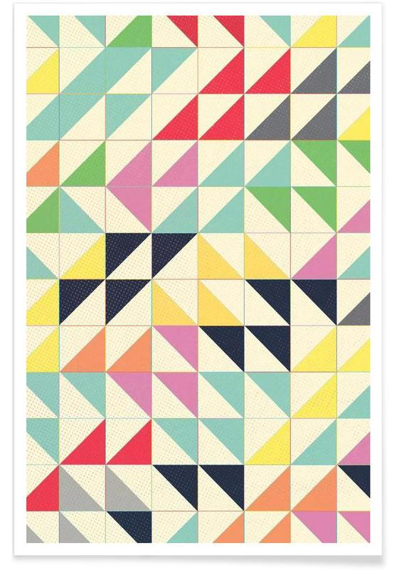 Triangles and Squares I affiche