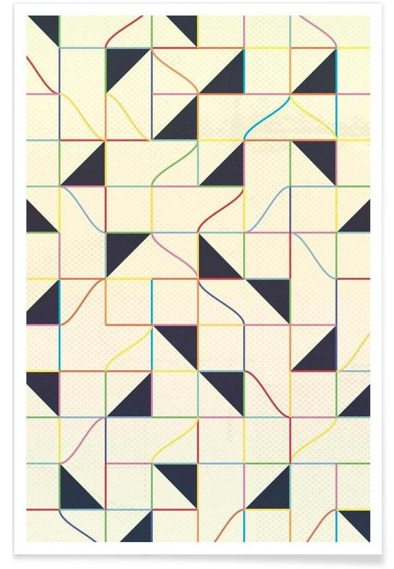 , Triangles and Squares II affiche