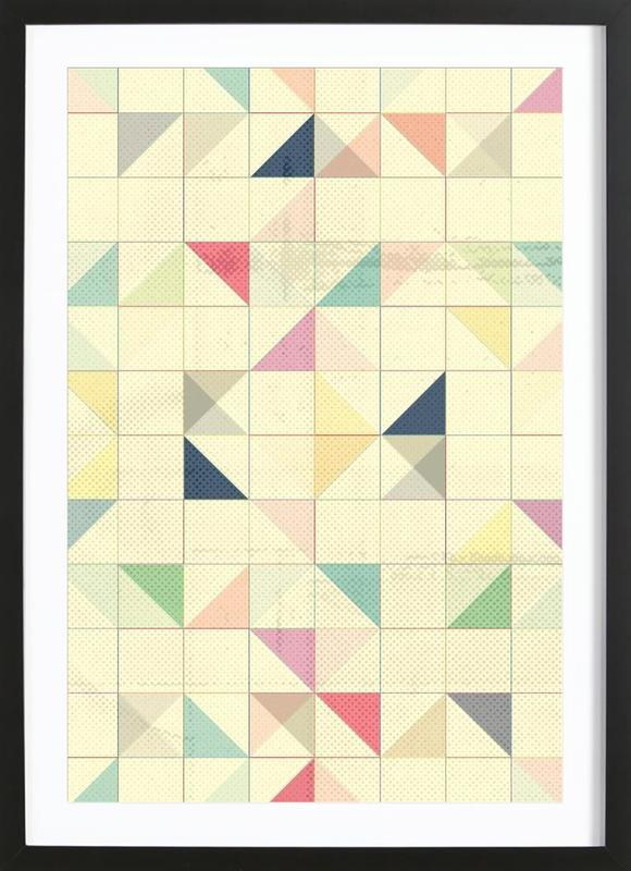 Triangles and Squares III Framed Print