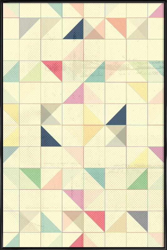 Triangles and Squares III Framed Poster