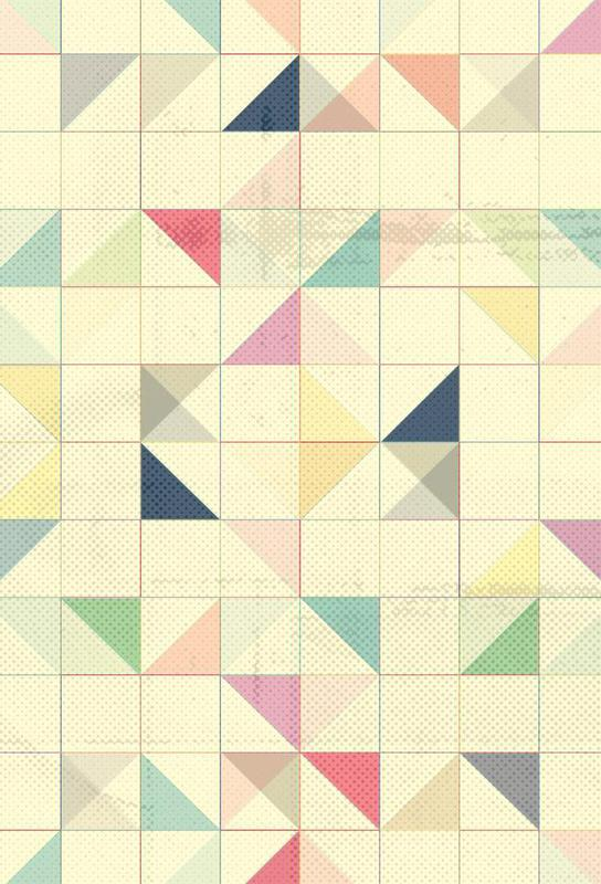Triangles and Squares III Aluminium Print