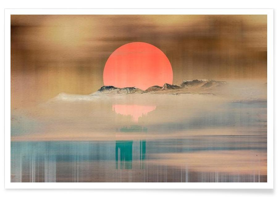 Paysages abstraits, When the sun touches the horizon affiche