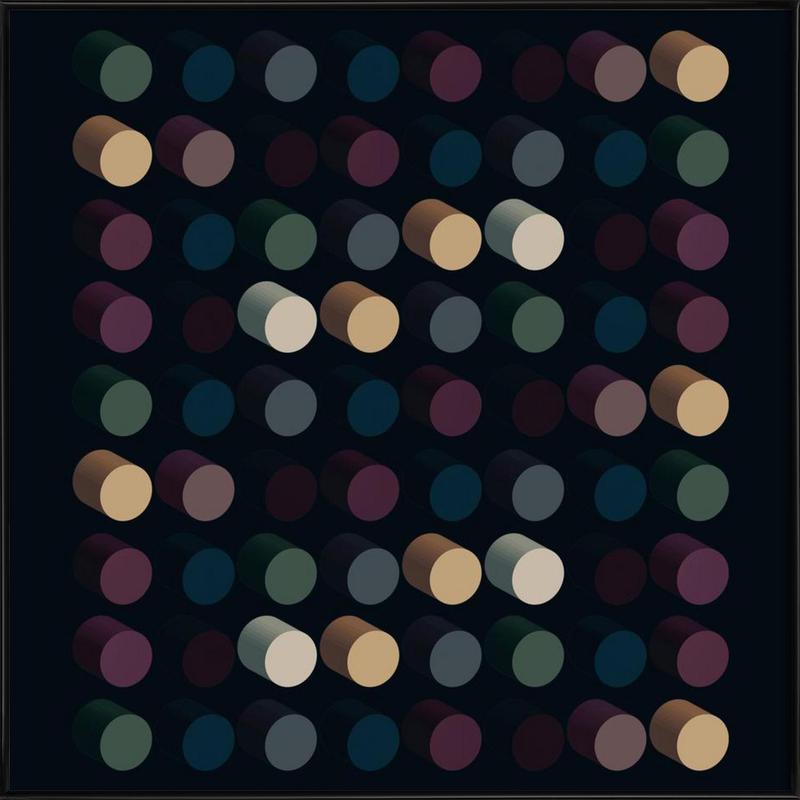 Out of the dark -Bild mit Kunststoffrahmen