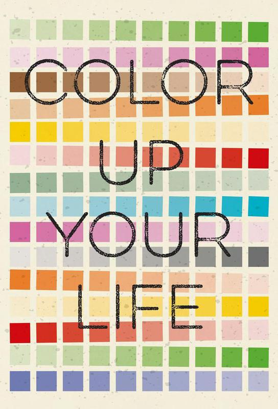 Color up your life Aluminium Print