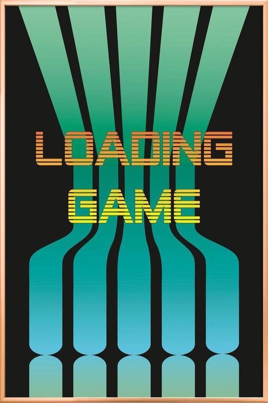Loadinggame -Poster im Alurahmen