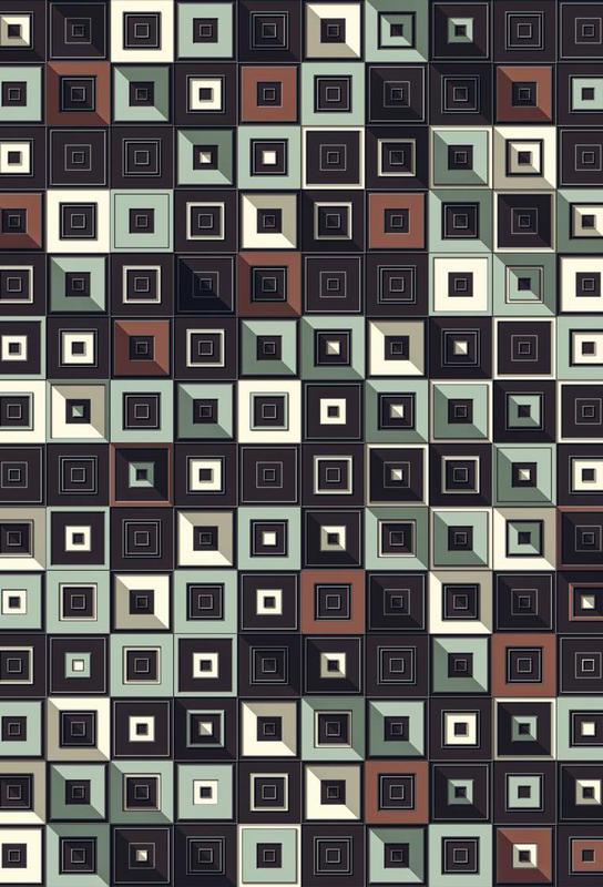 Lostin Squares II Aluminium Print