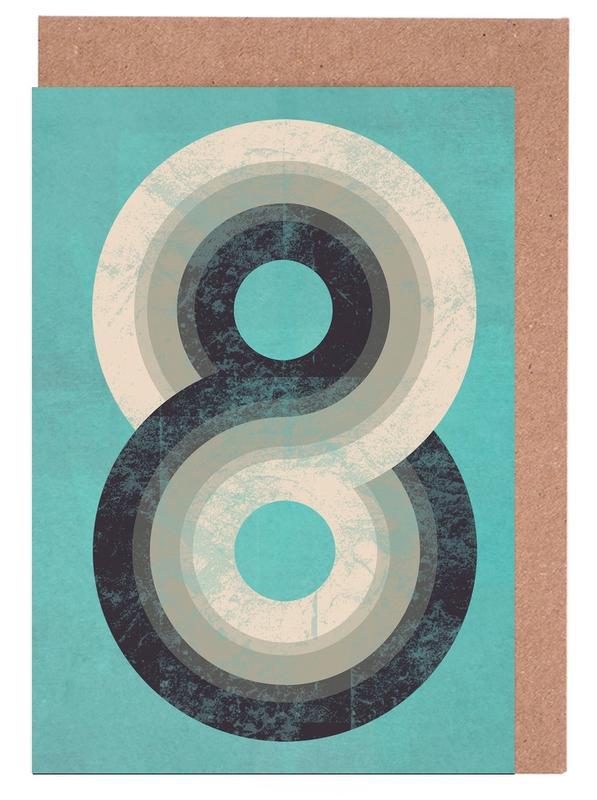 Rétro, Nombres, Eight cartes de vœux