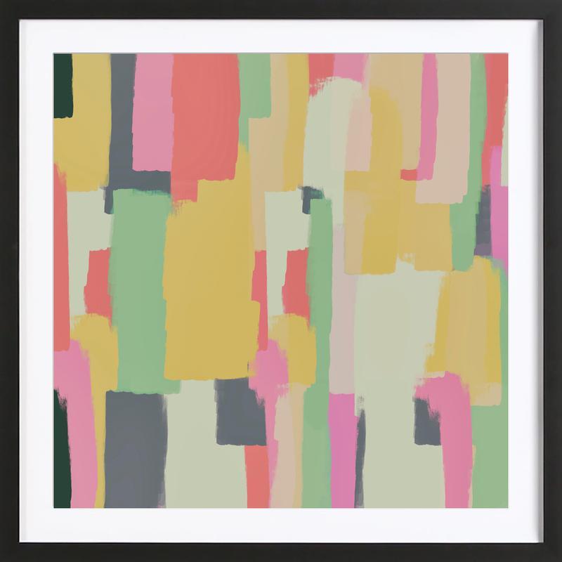 Abstract Painting No.1 -Bild mit Holzrahmen