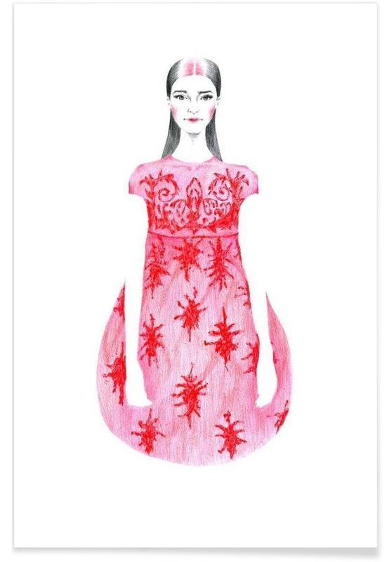 Illustrations de mode, Anna affiche