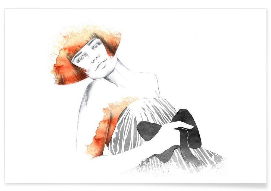 Illustrations de mode, Sophie affiche