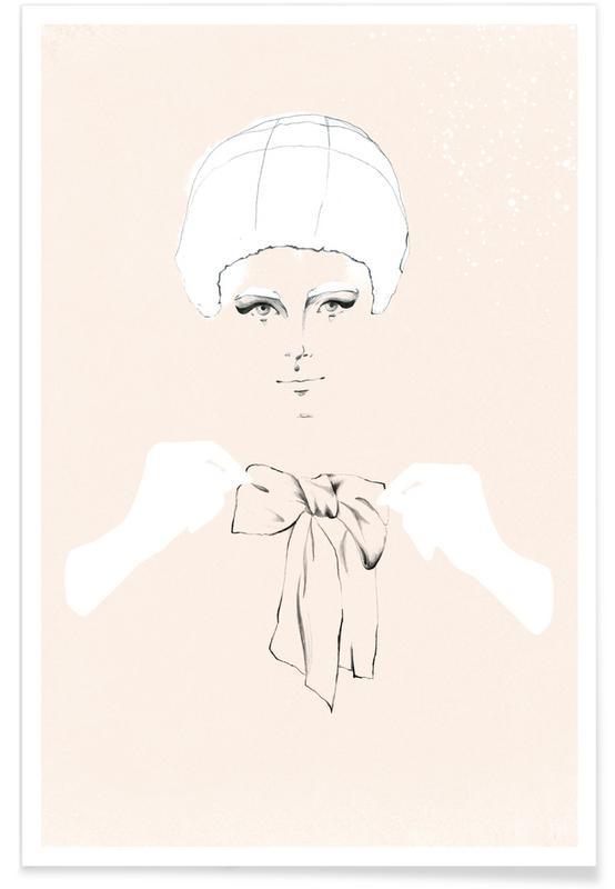 Modeillustration, Bobbie -Poster