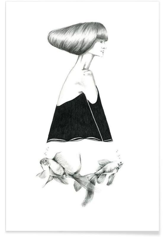 Poissons, Noir & blanc, Rêve, B1 affiche