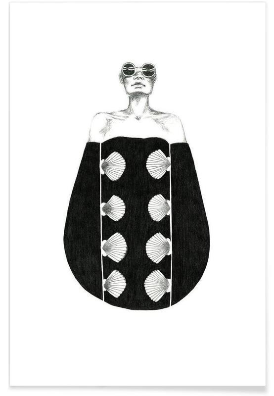 Noir & blanc, Illustrations de mode, B3 affiche