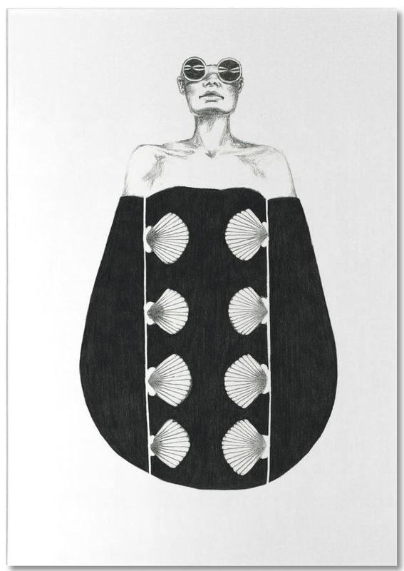 Schwarz & Weiß, Modeillustration, B3 -Notizblock