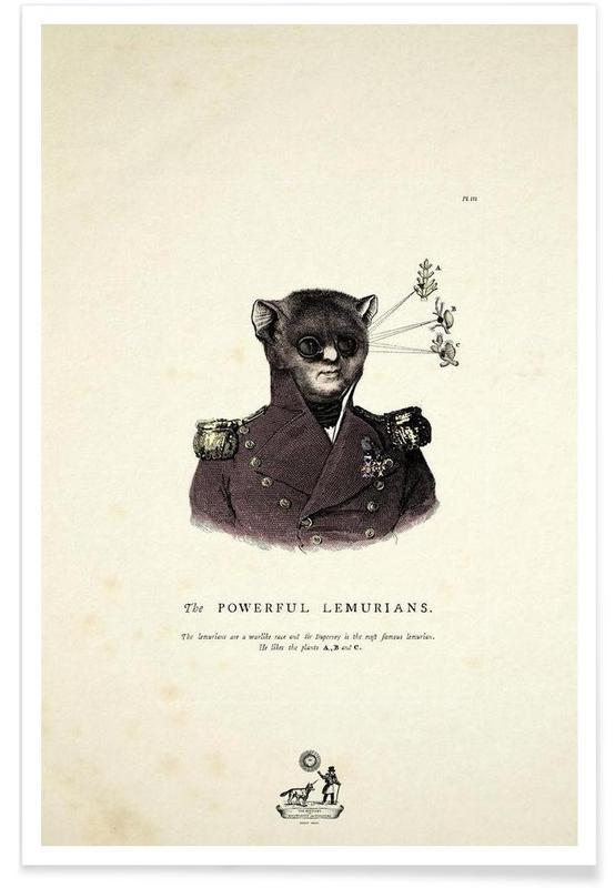 Créatures et hybrides, The powerful lemurians affiche