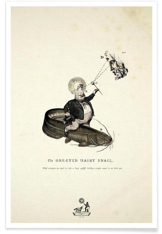 Créatures et hybrides, The one-eyed hairy snail affiche