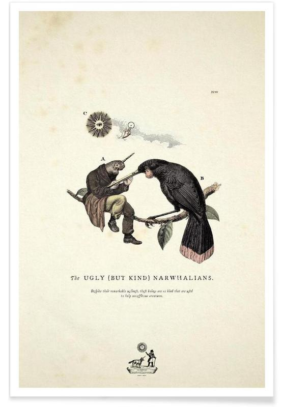 Creatures & Hybrids, The kind narwhalians Poster