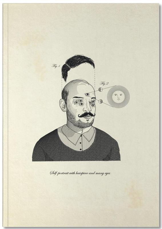 , Self-portrait with hairpiece and many eyes Notebook
