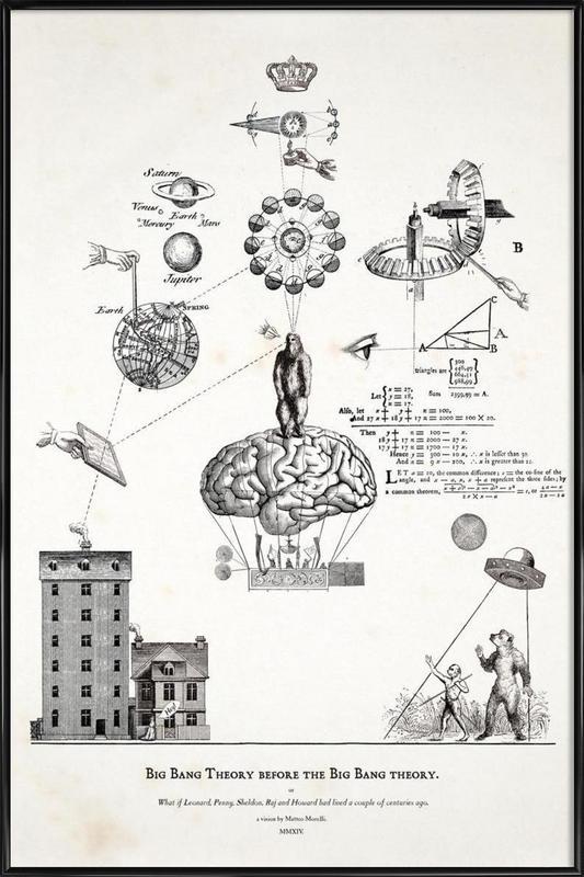 Big Bang Theory before the Bing Bang theory Framed Poster