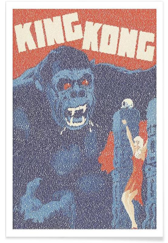 King Kong Pointillism Poster