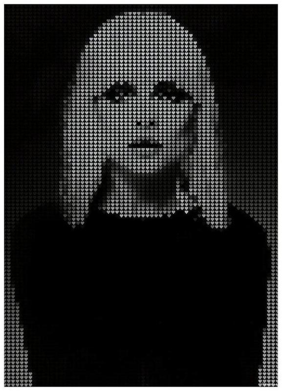 Heart Of (Black Version) Canvas Print
