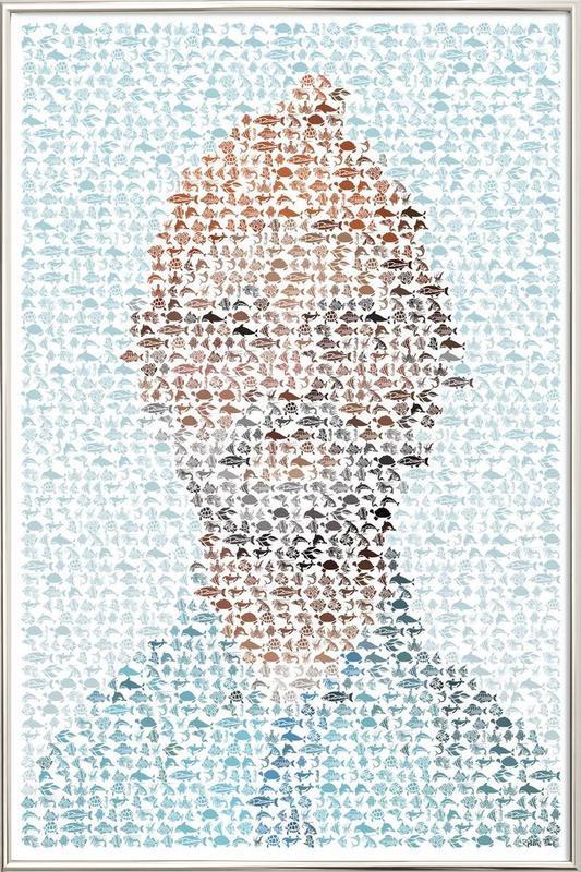 The Aquatic Steve Zissou poster in aluminium lijst
