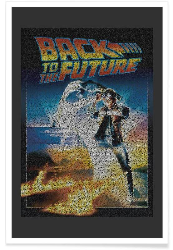 Films, Back To The Future - pointillisme poster