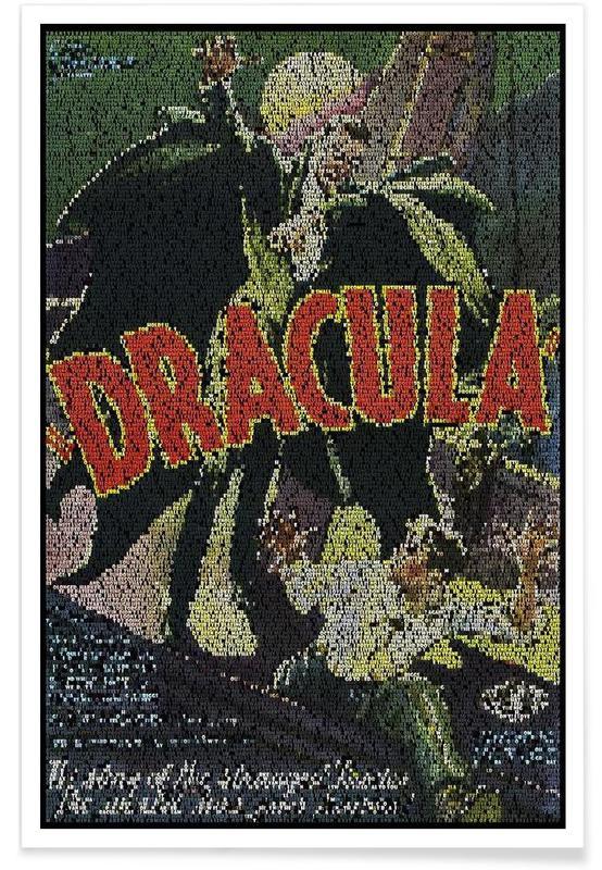 Movies, Dracula Pointillism Poster
