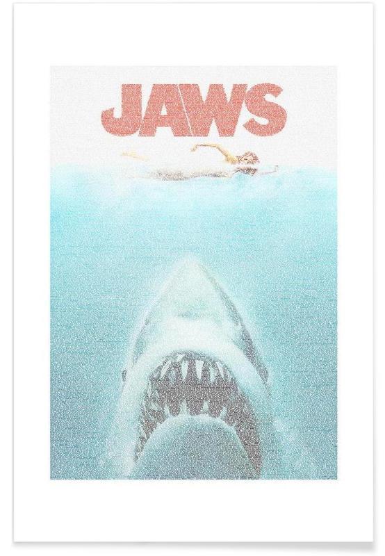 Filme, Der weiße Hai-Pointillismus -Poster