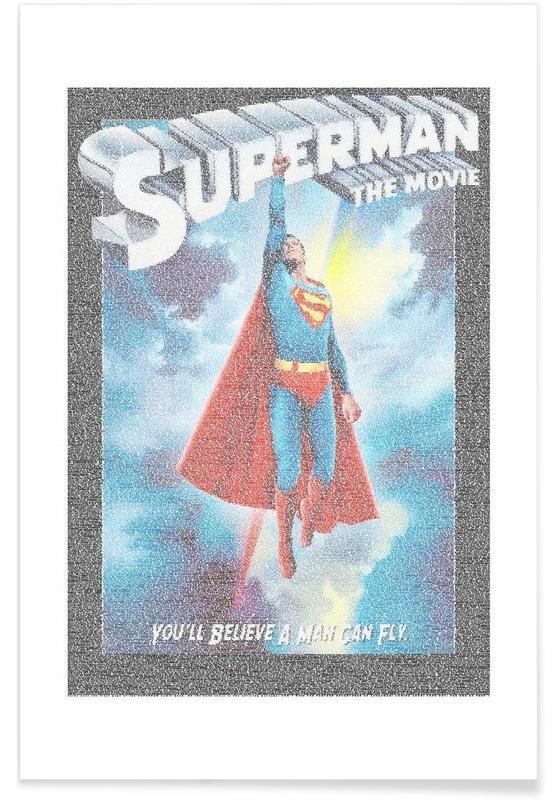 Movies, Superman, Superman 1978 Pointillism Poster