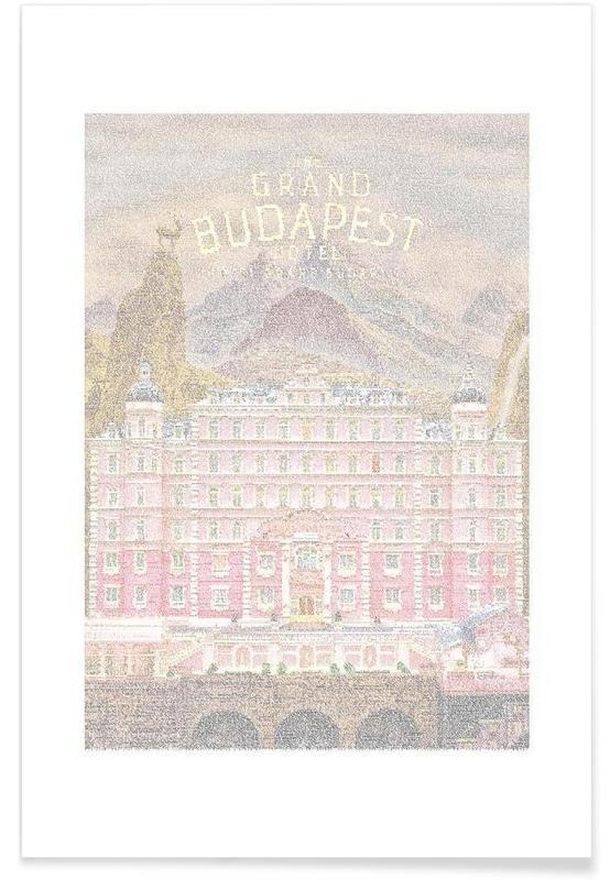 Films, Grand Budapest Hotel - pointillisme poster