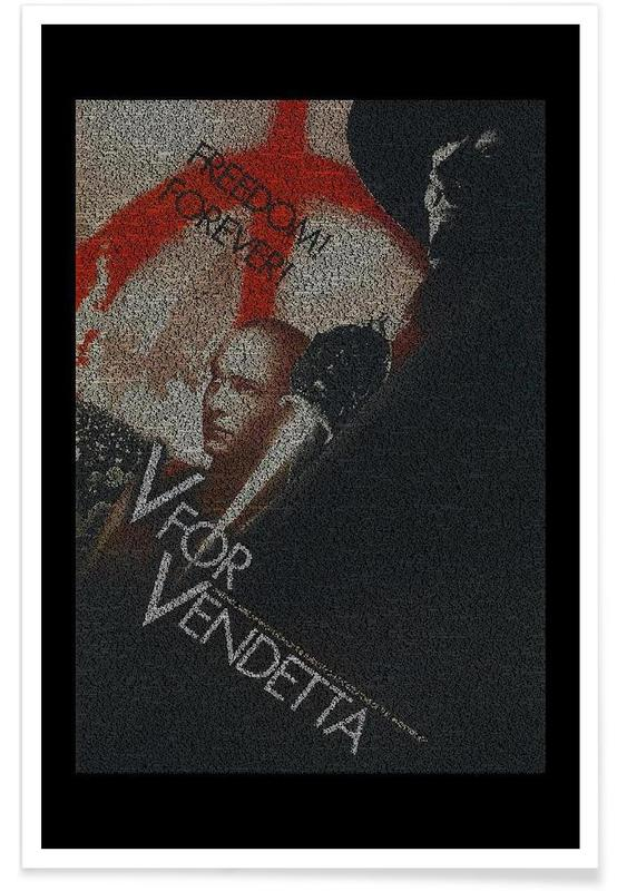 Films, V for Vendetta - pointillisme poster