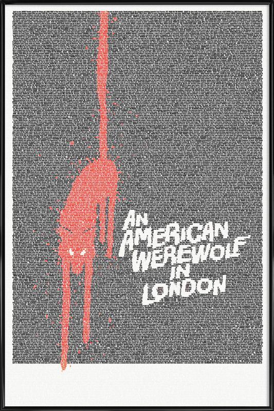 An American Werewolf In London -Bild mit Kunststoffrahmen