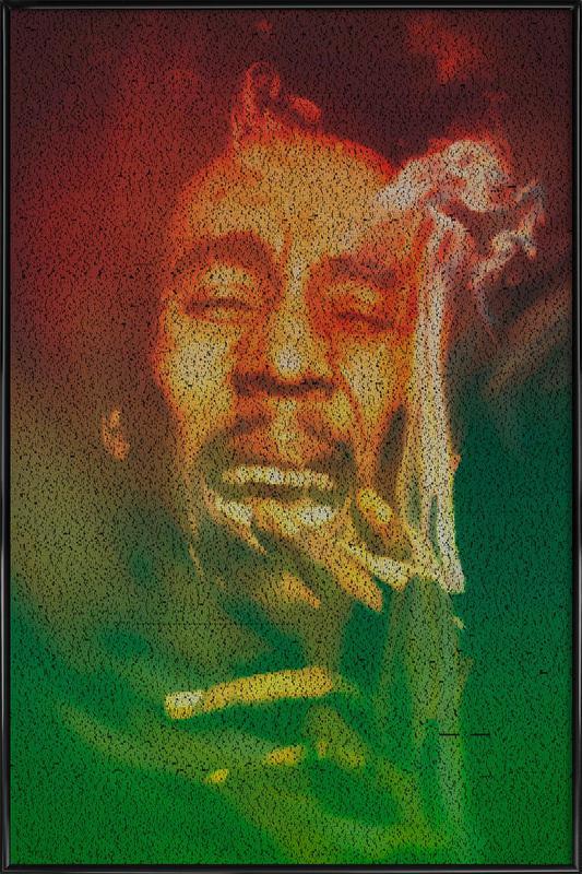 Marley -Bild mit Kunststoffrahmen