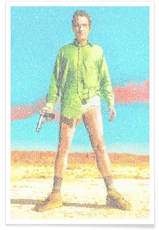 TV Shows, Walter White Pointillism Poster