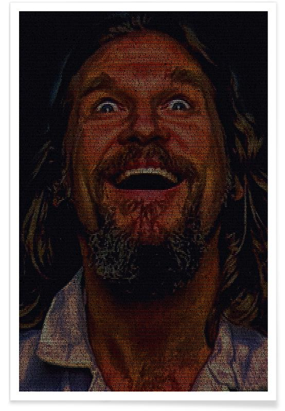 Movies, The Dude Smile Pointillism Poster