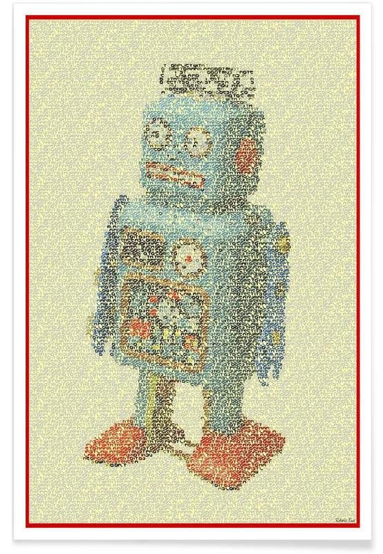 Laws Of Robotics - pointillisme poster
