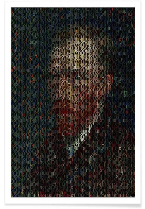 Pointillisme - Vincent Van Gogh affiche