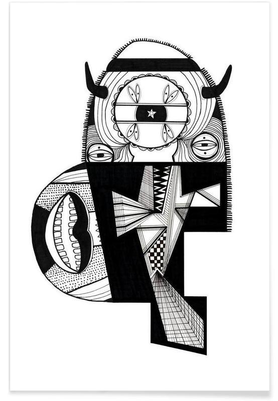 Noir & blanc, Créatures et hybrides, monsterfish affiche