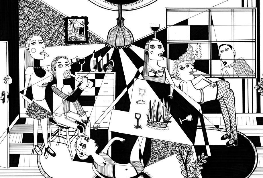 Party -Acrylglasbild