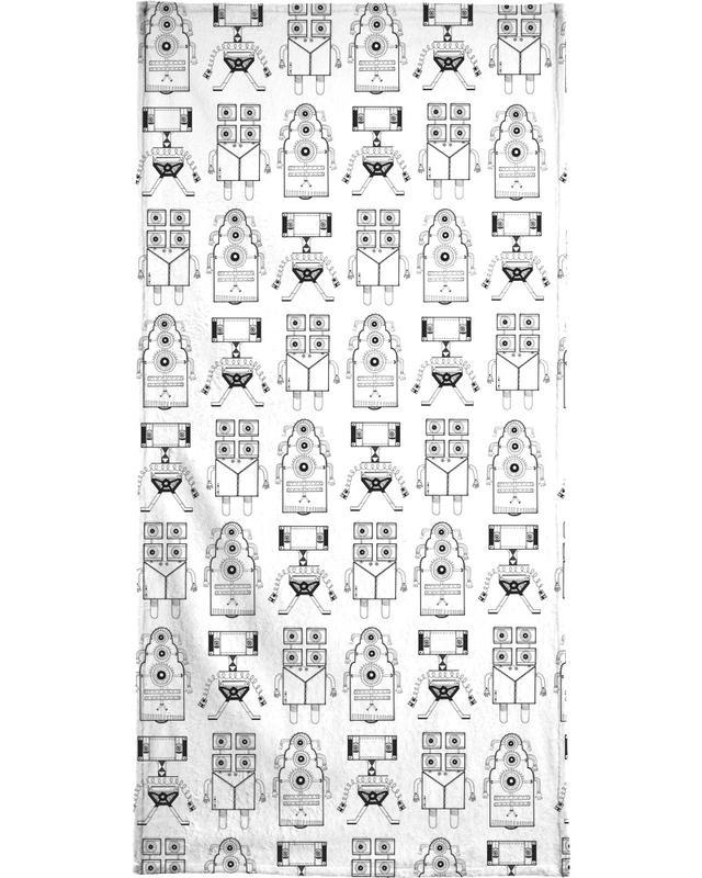 Robots (patroonrobotskopie) Bath Towel