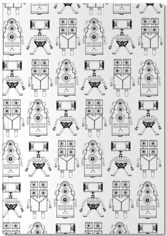 Kunst voor kinderen, Robots (patroonrobotskopie) Notebook