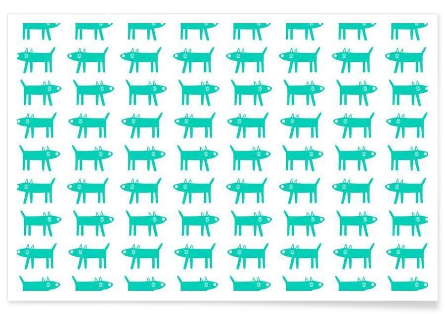 Chiens, Motifs, dog pattern 3 affiche