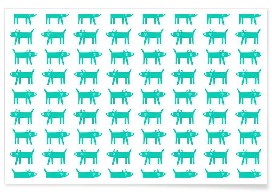 dog pattern 3 Poster