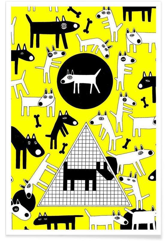 Chiens, dogs affiche