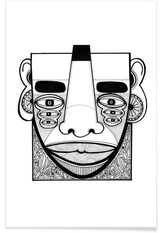 Portretten, mask 1 poster