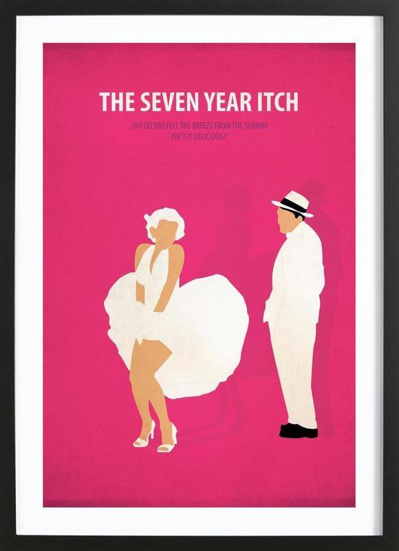 The seven year Itch -Bild mit Holzrahmen