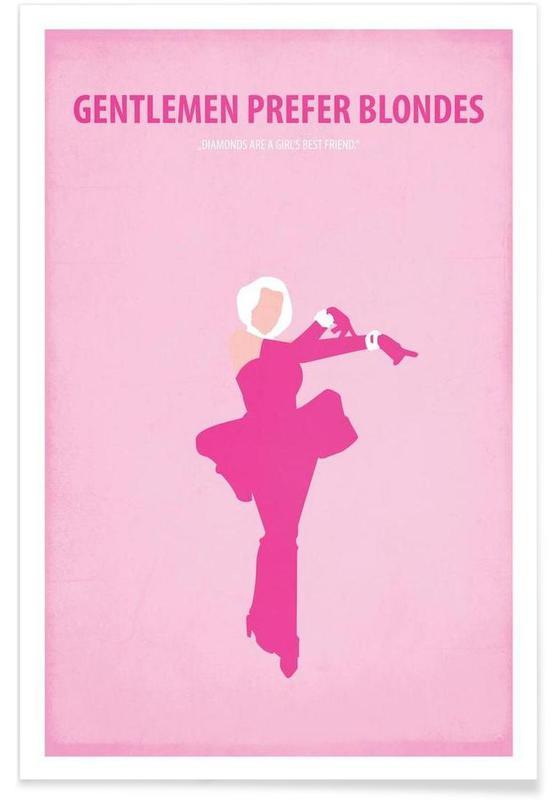Movies, Marilyn Monroe, Gentlemen prefer Blondes Poster